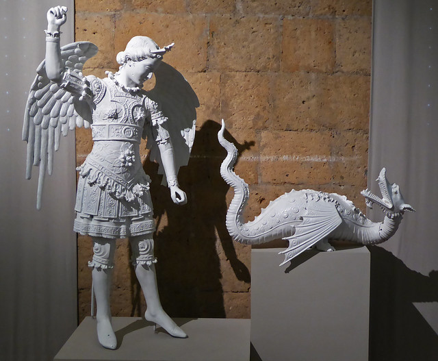 St. Michael archangel defeating the dragon (devil)
