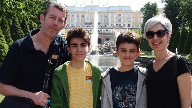 Samson Fountain at Peterhof Gardens