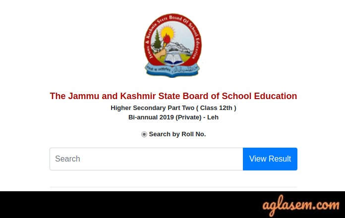 JKBOSE 12th Bi-Annual Result 2019 For Leh Division