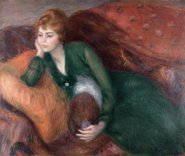 William James Glackens - Young Woman in Green [c.1915]