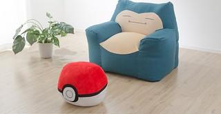 讓你躺在卡比獸的肚皮上發懶!CELLUTANE《精靈寶可夢》卡比獸造型沙發組(カビゴンビーズソファ)