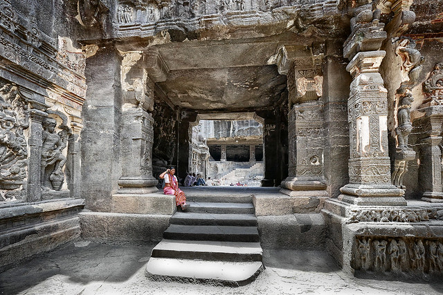 Le temple de kailasanatha (Ellora)