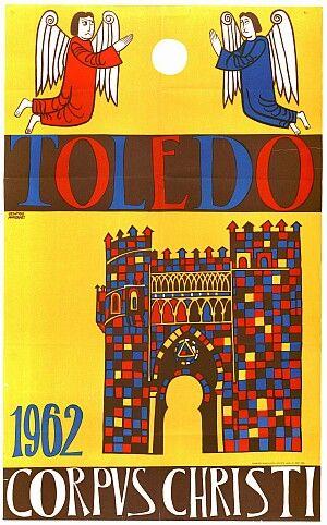 Cartel del las fiestas del corpus Christi de Toledo en 1962