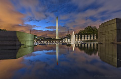 WWII Memorial Upper Pool Reflection