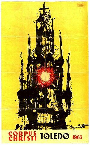Cartel del las fiestas del corpus Christi de Toledo en 1963