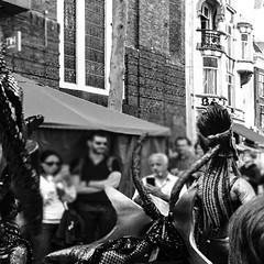 Street Parade Spui Straat I BW