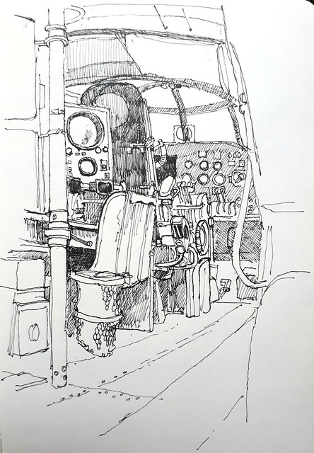 Avro Lancaster cockpit, Imperial War Museum, London