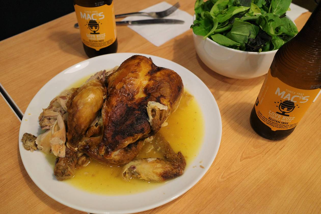 ニュージーランド チキンとビール