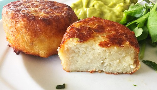 Fishcake - Lateral cut / Fischfrikadelle - Querschnitt