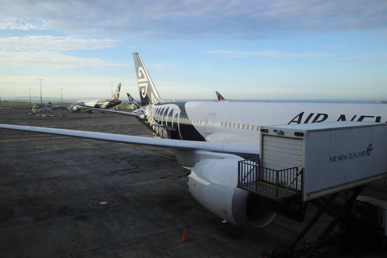 オークランド空港からエアニュージーランドで日本へ