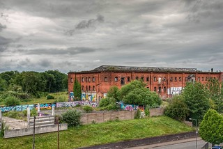 Friargate Warehouse, Derby...as seen from Rowleys Mill on Uttoxeter Road.