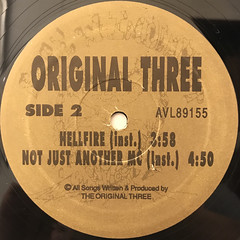 ORIGINAL THREE:HELLFIRE(LABEL SIDE-B)