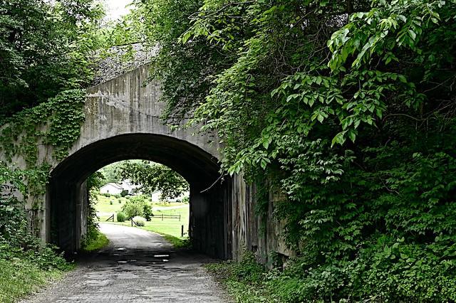 Concrete Railroad Underpass