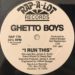 THE GHETTO BOYS:YOU AIN'T NOTHING(LABEL SIDE-B)