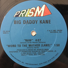 BIG DADDY KANE:RAW(LABEL SIDE-B)