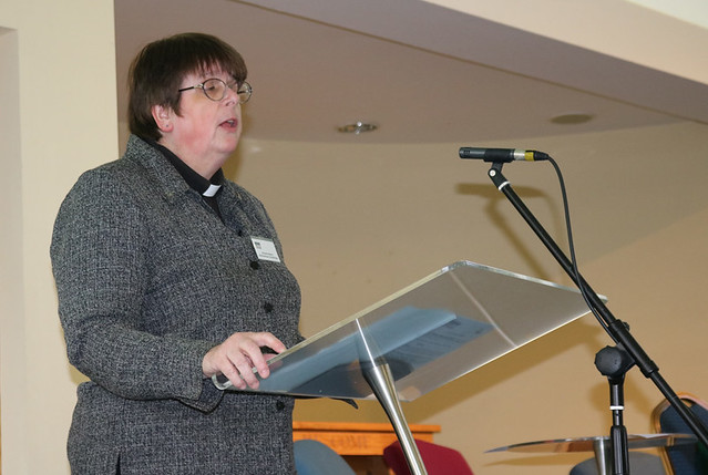 The Rev Amanda Adams, rector of Ballyrashane and Kildollagh, proposes extending the partnership with Yei at Connor Synod.