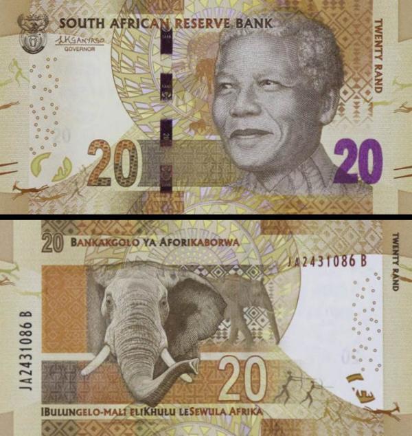 20 Randov Južná Afrika 2016, Mandela P139b
