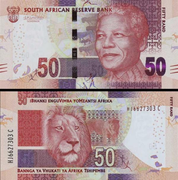 50 Randov Južná Afrika 2016, Mandela P140b