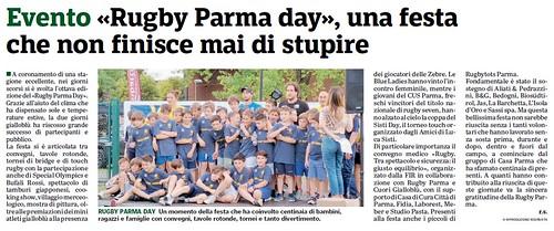 Gazzetta di Parma 19.06.19 - 8° Rugby Parma Day