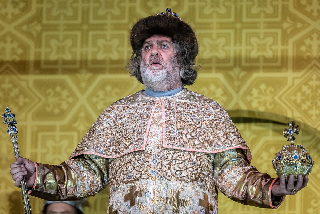 Bryn Terfel as Boris Godunov in Boris Godunov, The Royal Opera © 2019 ROH. Photograph by Clive Barda