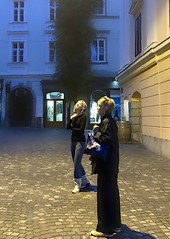 My mother & me 6 am in Ljubljana