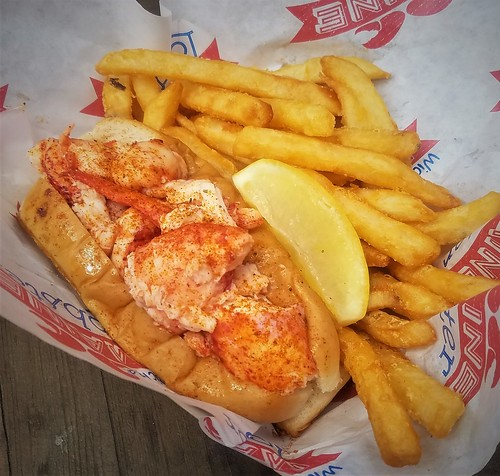 Lobster Roll + Fries @ Wicked Maine Lobster