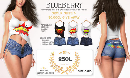 Blueberry Gifts for SL16B & Pride Month