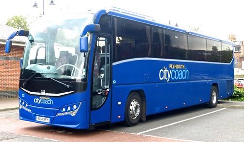 YX14 SFN 'Plymouth citycoach' No. 321. Volvo B11R / Plaxton Panther on Dennis Basford's railsroadsrunways.blogspot.co.uk'