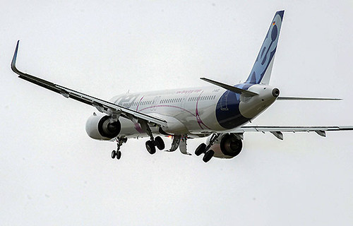 Airbus A321LR gear up (Airbus)