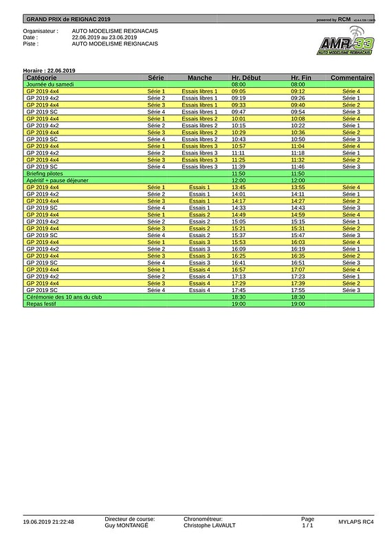 Timing samedi - GP 2019-pdf