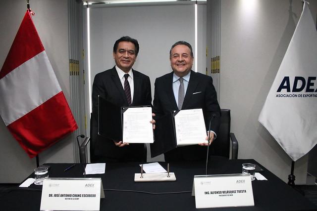 Universidad de San Martín de Porres firmó Convenio Marco de Cooperación Interinstitucional con la Asociación de Exportadores ADEX