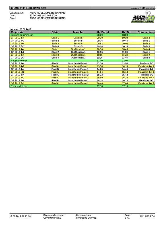 Timing dimanche - GP 2019-pdf