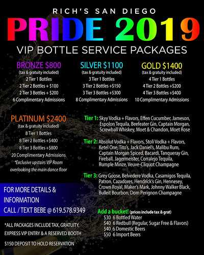 Pride VIP Packages