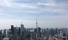 Downtown Toronto! Beautiful view but 85th floor :hushed: rooftop, bit scary lol.