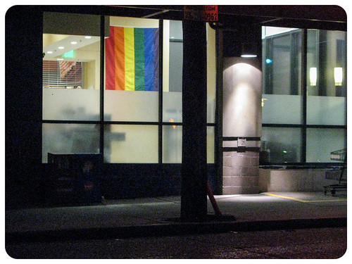 Pride Flag at Night