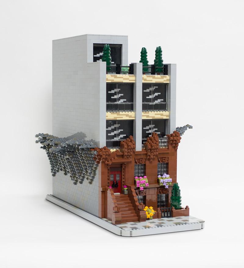 A Vanishing Brooklyn (custom built Lego model)