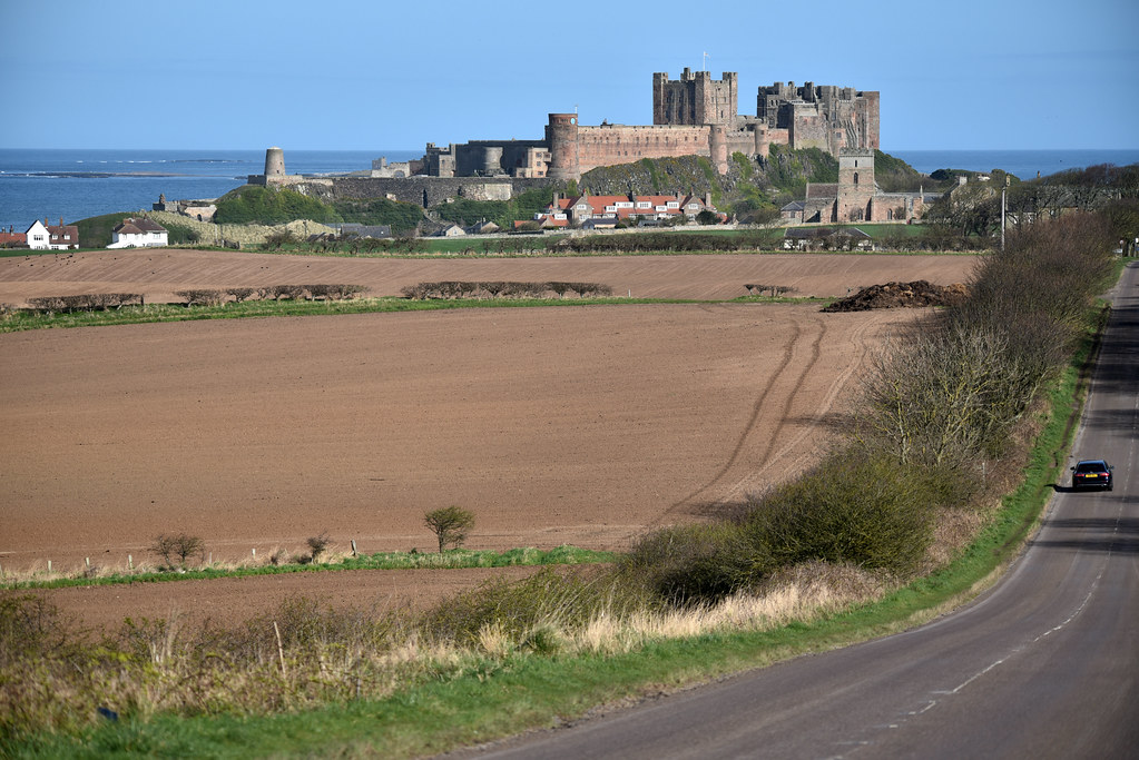 The way to Bamburgh Castle