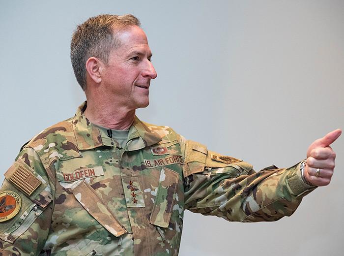 A man in an Air Force uniform.