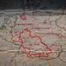 Post WWII Map of Germany at Brevard County Veterans Memorial Park and Military Museum Merritt Island