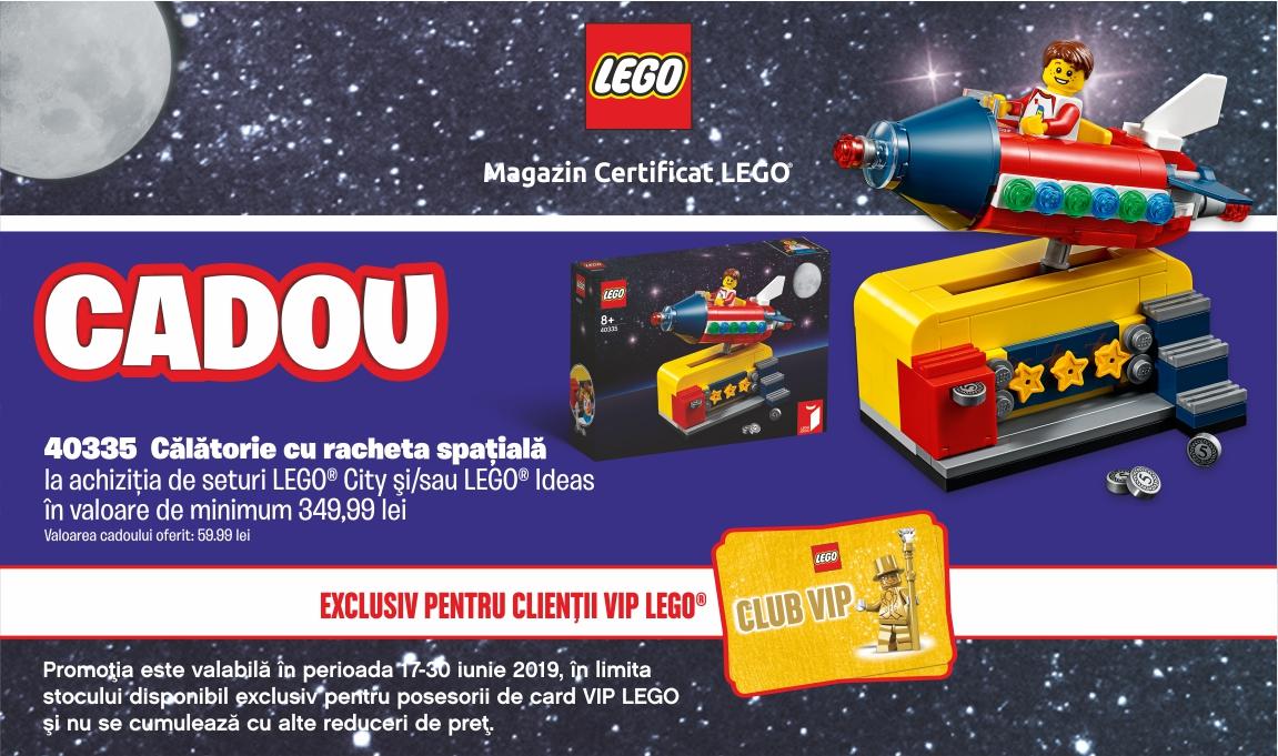 Cadou pentru clientii VIP: LEGO® 40335 – Calatorie cu racheta spatiala