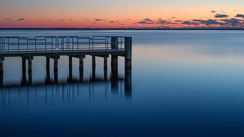 sunrise dawn barnegatbay berkeleytownship newjersey longexposure