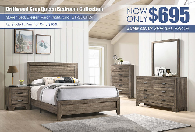 Driftwood Gray Queen Set Special_JUNE ONLY