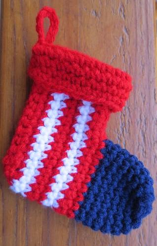 """Patriotic 6"""" Mini Christmas Stocking"""