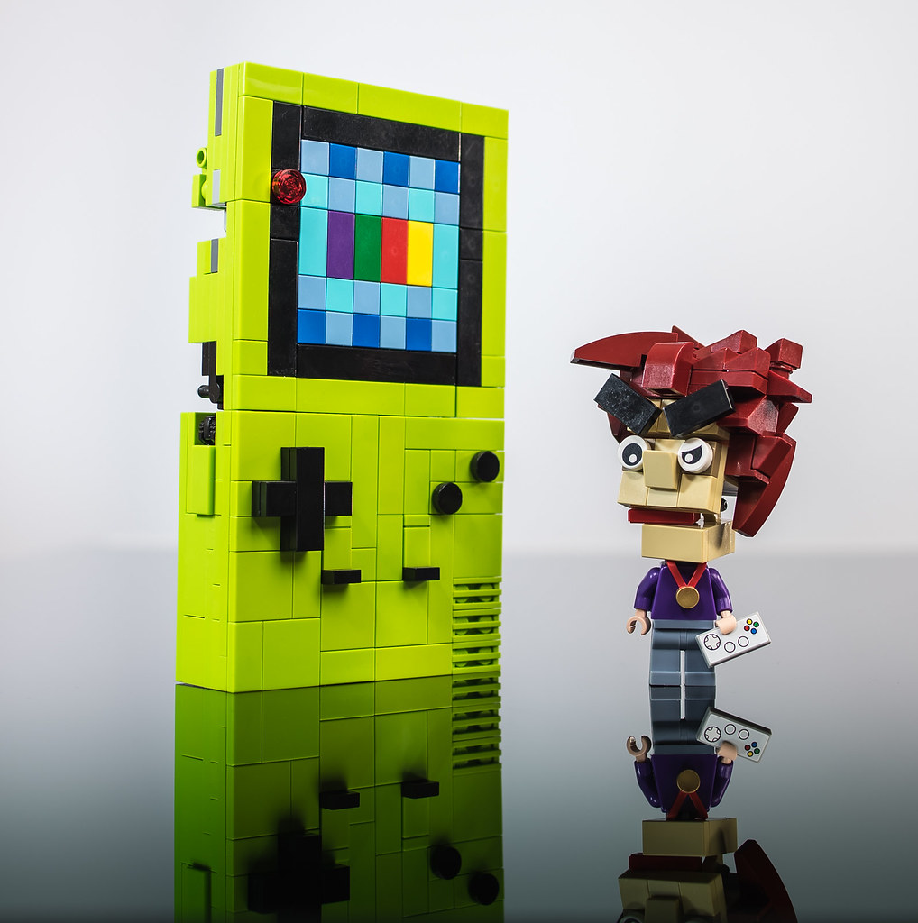 Prismatis & Gary Oak (custom built Lego model)