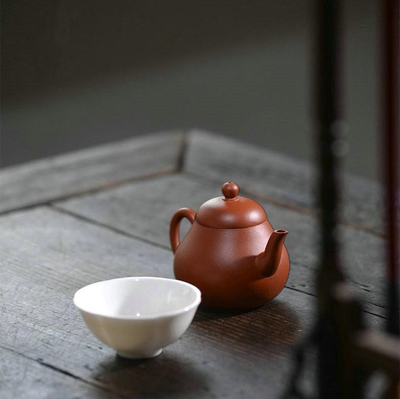 """Yixing Teapot """"Li Xing"""" (Pear Shape) ZhuNi Mud 110CC"""