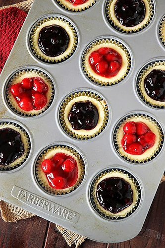 Red-White-Blue-Mini-Cheesecakes-Cherry-Blueberry-Topping-Image 4