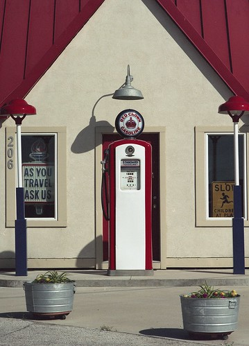 Restored gas station | by pollys belvin