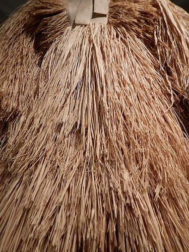 Raffia dress in the Design Museum in Copenhagen, Denmark