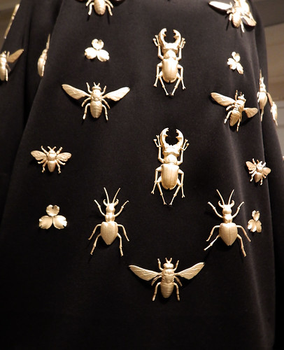Bug decor dress in the Design Museum in Copenhagen, Denmark