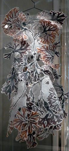Leafy dress Design Museum in Copenhagen, Denmark